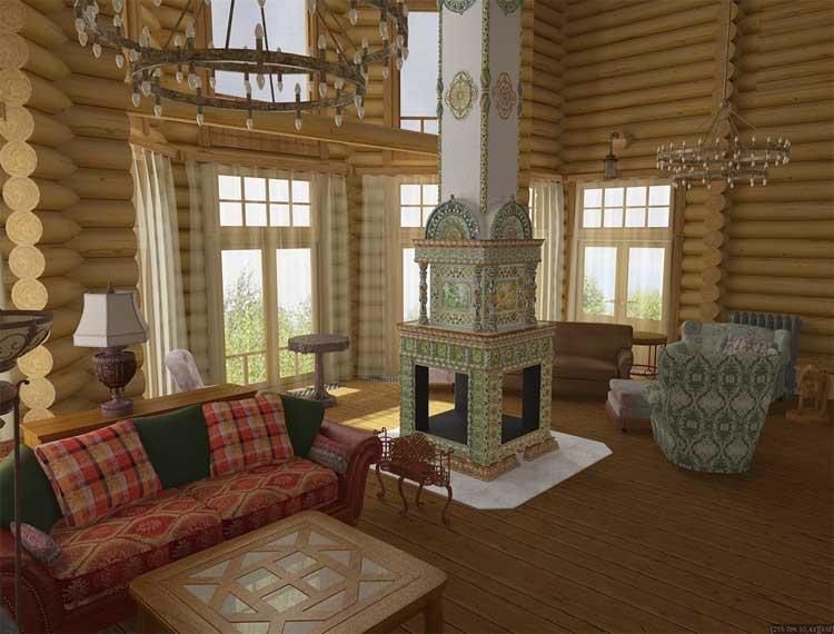 Дизайн интерьера дачного дома внутри