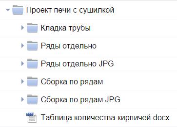 Комплект документации на печь Дюймовочка