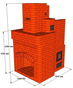 Пламя с размерами камина