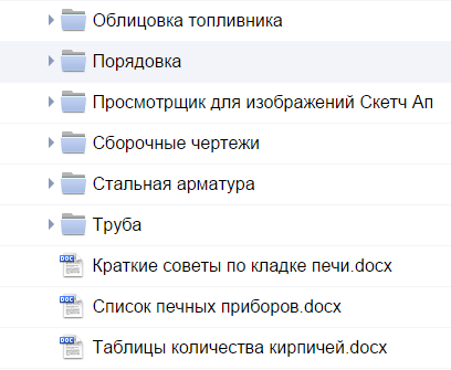 Состав документации
