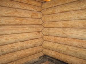 Отделка канатом деревянного дома внутри